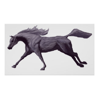 Arabian Horse Galloping Poster