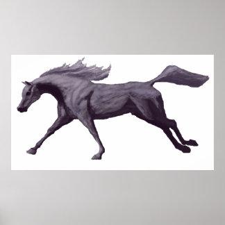 Arabian Horse Galloping Poster