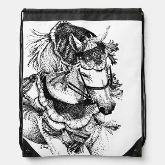 Arabian Horse in Costume Drawstring Bag