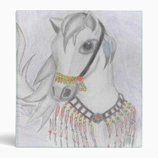 Arabian Horse in Indian Costume in Color Pencil Binder