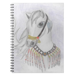 Arabian Horse in Indian Costume in Color Pencil Note Books
