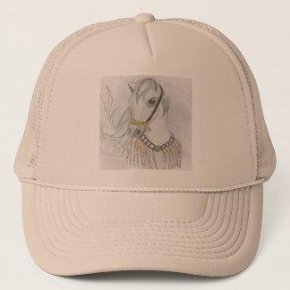 Arabian Horse in Indian Costume in Color Pencil Trucker Hat