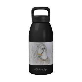 Arabian Horse in Indian Costume in Color Pencil Water Bottle