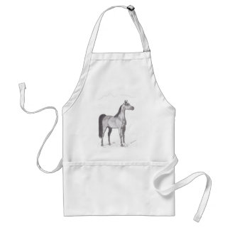 Arabian Horse in Pencil Adult Apron