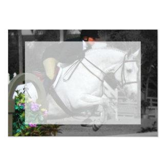 Arabian Horse Jumping Card