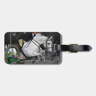 Arabian Horse Jumping Luggage Tag
