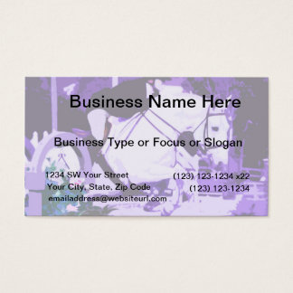 arabian horse jumping purple posterized business card