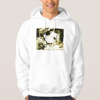 arabian horse jumping sepia posterized hoodie