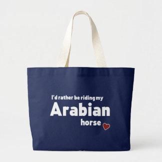 Arabian horse large tote bag
