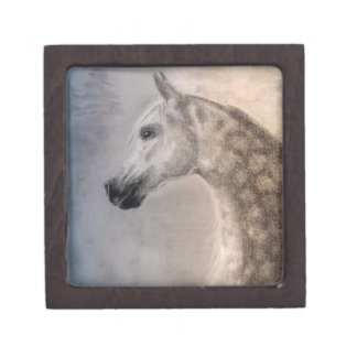 Arabian Horse Magnetic Wooden Gift Box