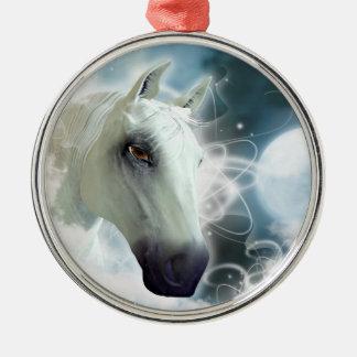 Arabian Horse Round Metal Christmas Ornament