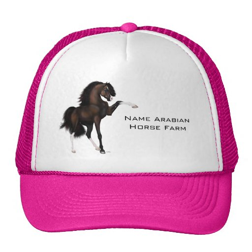 Arabian Horse Passion Brown Mesh Hats