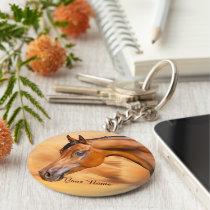 Arabian Horse Personalized Keychain