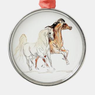Arabian Horse Premium Round Ornament