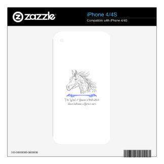 ARABIAN HORSE PROVERB iPhone 4 SKINS