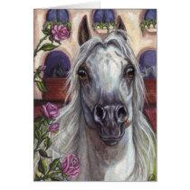ARABIAN HORSE Roses Note Card