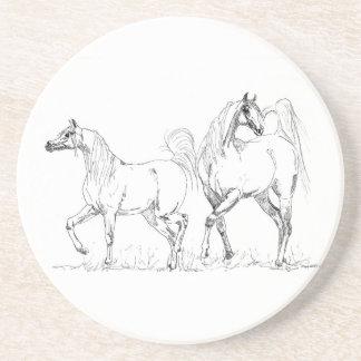 Arabian Horse Sandstone Coaster - Arabian Horses