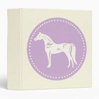 Arabian Horse Silhouette 3 Ring Binder