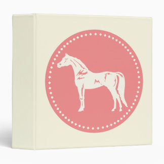 Arabian Horse Silhouette Binder