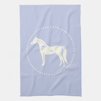 Arabian Horse Silhouette Kitchen Towel