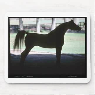 Arabian Horse Silhouette Mouse Pad