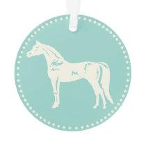 Arabian Horse Silhouette Ornament