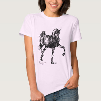 Arabian Horse Simple Sketch Tee Shirt