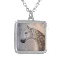 Arabian Horse Square Necklace