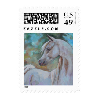 Arabian Horse Stamp by Jenn Danza