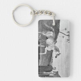 Arabian Horse Vintage Illustration Rectangular Acrylic Key Chain