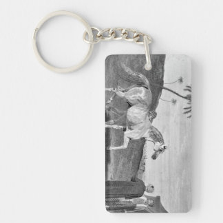 Arabian Horse Vintage Illustration Rectangular Acrylic Keychain