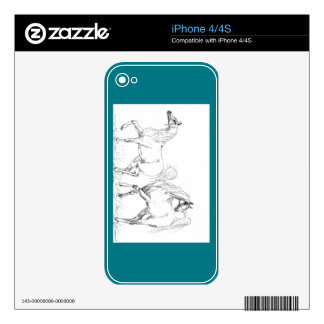 Arabian Horse Vinyl Device Protection Skin Skins For iPhone 4S