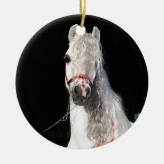 Arabian Horse White Ceramic Ornament