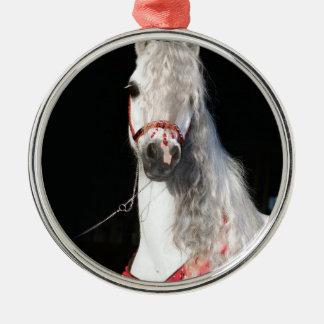 Arabian Horse White Metal Ornament