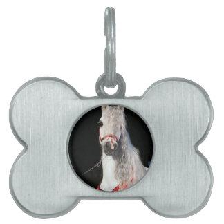 Arabian Horse White Pet ID Tag