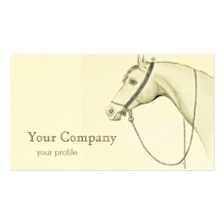 Arabian Horse with bedouin saddlery Business Card
