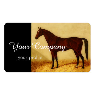 Arabian horse with chestnut coat business card