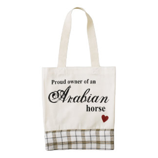Arabian horse zazzle HEART tote bag