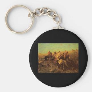Arabian Horsemen Near A Watering Place Keychain