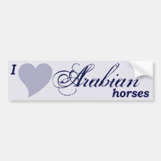 Arabian horses bumper sticker