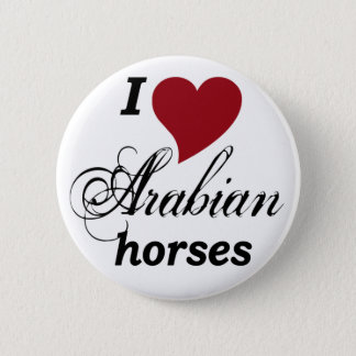 Arabian horses button