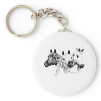 Arabian Horses Keychain
