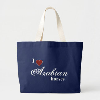 Arabian horses large tote bag