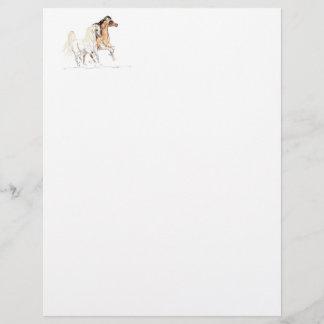 Arabian Horses Letterhead Paper
