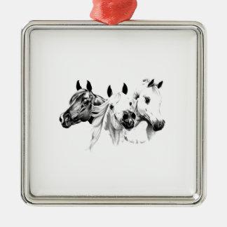 Arabian Horses Metal Ornament