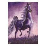 Arabian in Purple Greeting Card