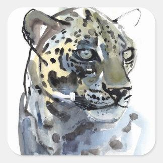 Arabian Leopard 2008  4 Square Sticker