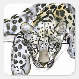 Arabian Leopard 2008  6 Square Sticker