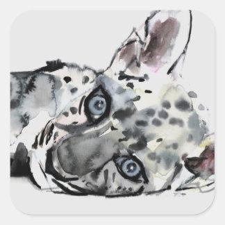 Arabian Leopard Cub 2008 Square Sticker
