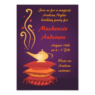 Arabian Magic Lamp Party Invitations